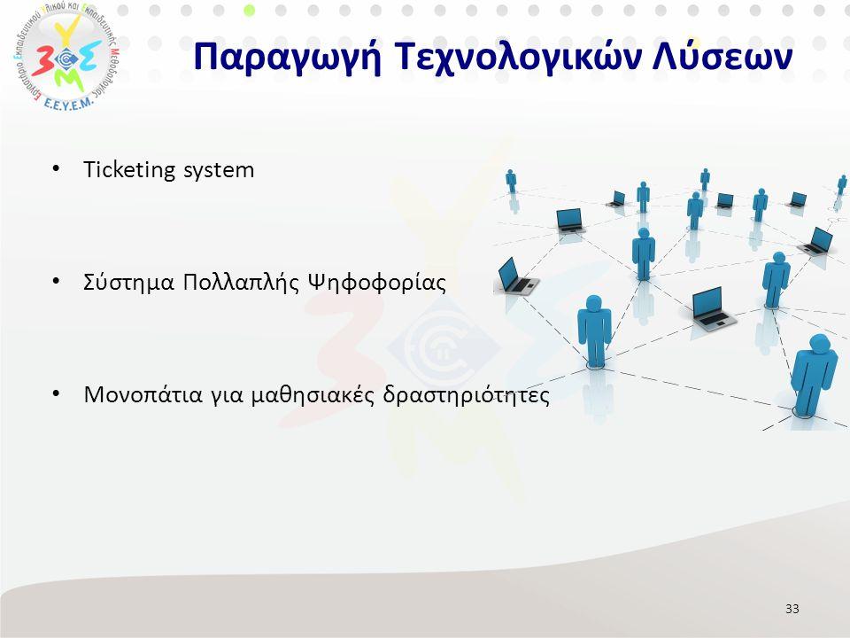 Παραγωγή Τεχνολογικών Λύσεων