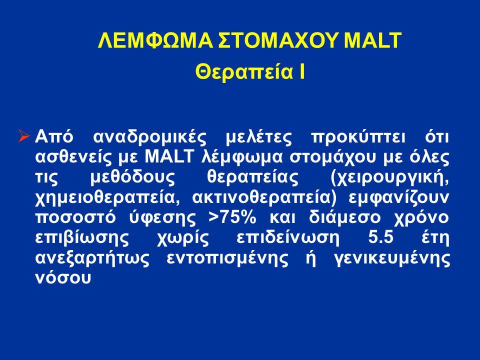 ΛΕΜΦΩΜΑ ΣΤΟΜΑΧΟΥ MALT Θεραπεία Ι