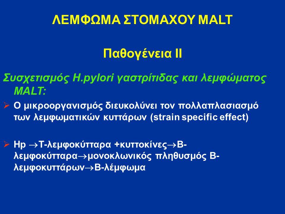 ΛΕΜΦΩΜΑ ΣΤΟΜΑΧΟΥ MALT Παθογένεια ΙΙ