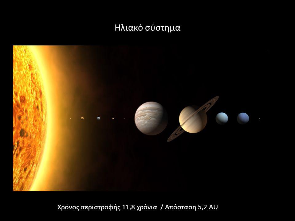 Ηλιακό σύστημα Χρόνος περιστροφής 11,8 χρόνια / Απόσταση 5,2 AU