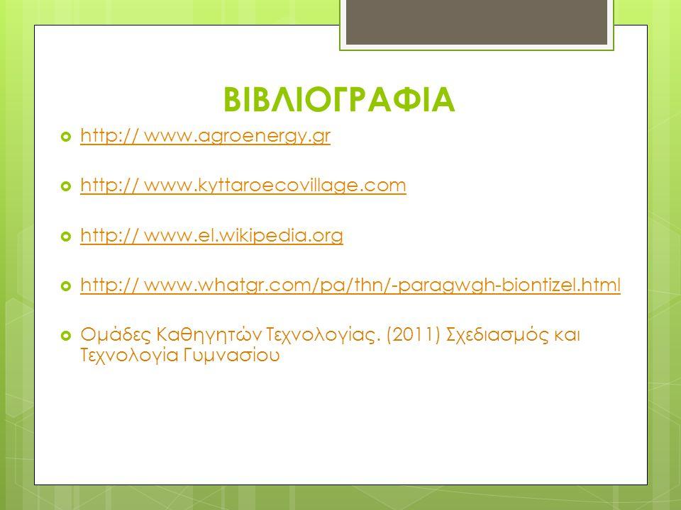 ΒΙΒΛΙΟΓΡΑΦΙΑ http:// www.agroenergy.gr