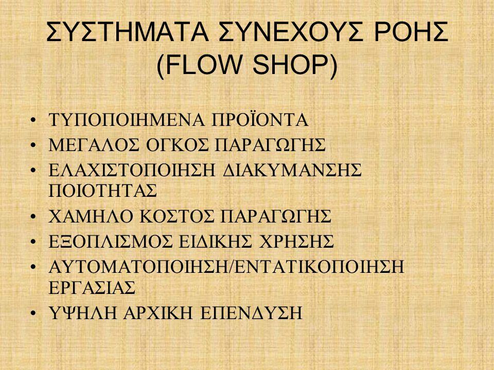 ΣΥΣΤΗΜΑΤΑ ΣΥΝΕΧΟΥΣ ΡΟΗΣ (FLOW SHOP)