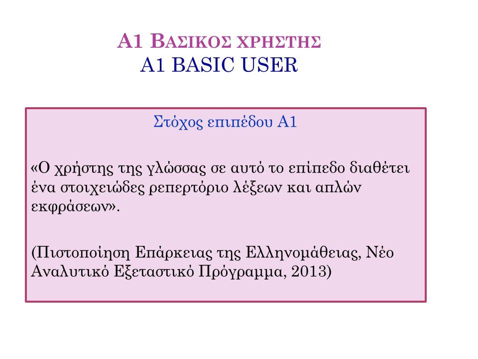 Α1 Βασικοσ χρηστησ A1 BASIC USER