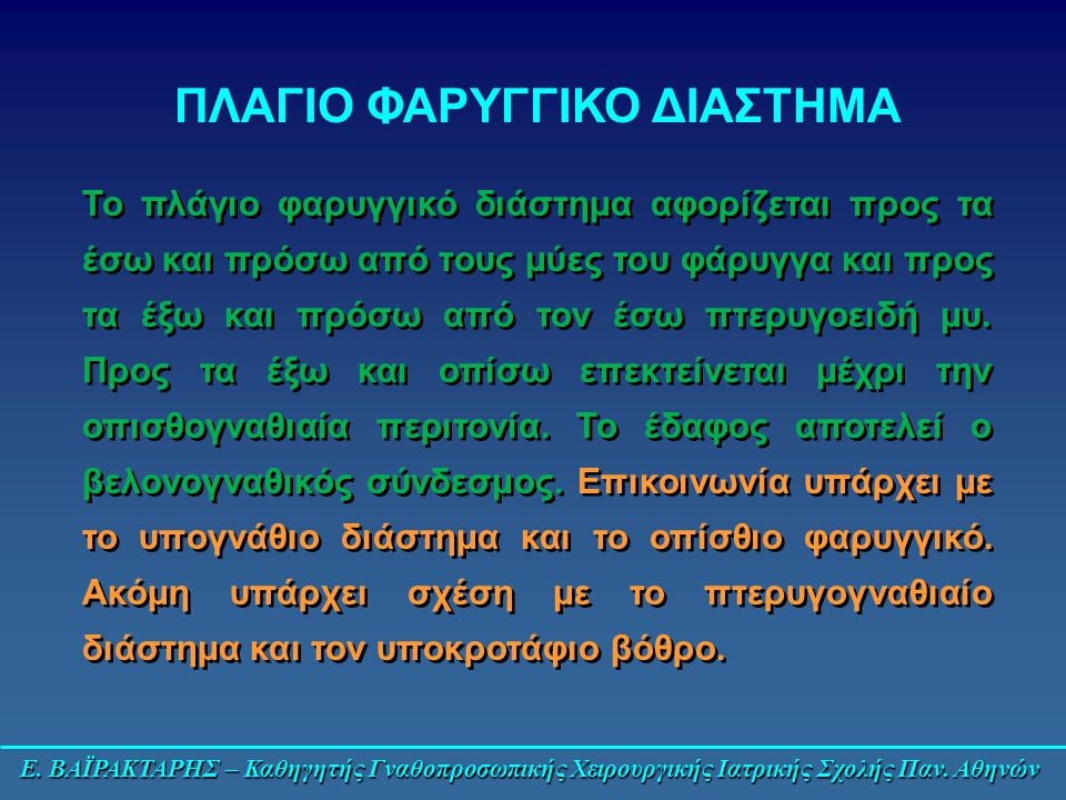 ΠΛΑΓΙΟ ΦΑΡΥΓΓΙΚΟ ΔΙΑΣΤΗΜΑ
