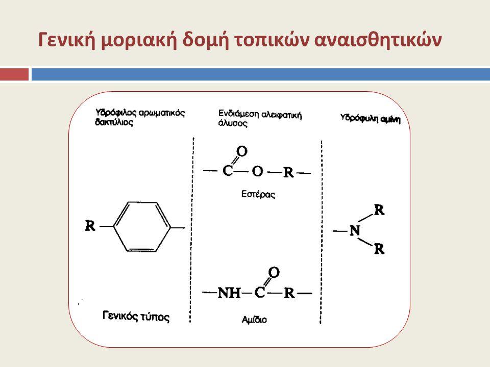 Γενική μοριακή δομή τοπικών αναισθητικών