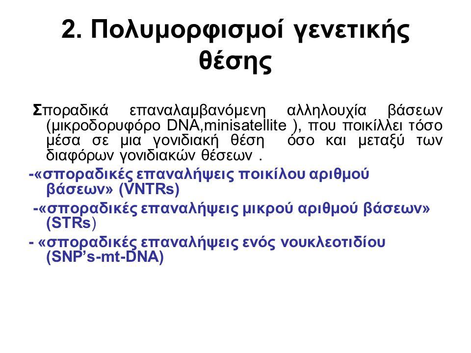 2. Πολυμορφισμοί γενετικής θέσης