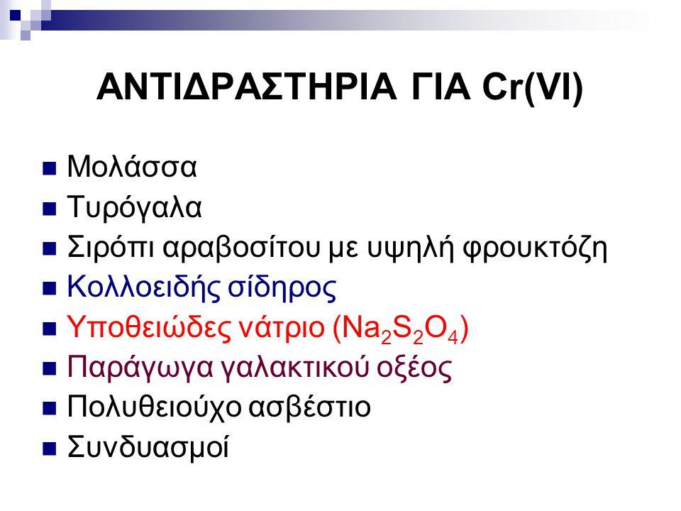 ΑΝΤΙΔΡΑΣΤΗΡΙΑ ΓΙΑ Cr(VI)