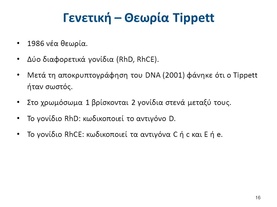 Γενετική – Θεωρία Tippett