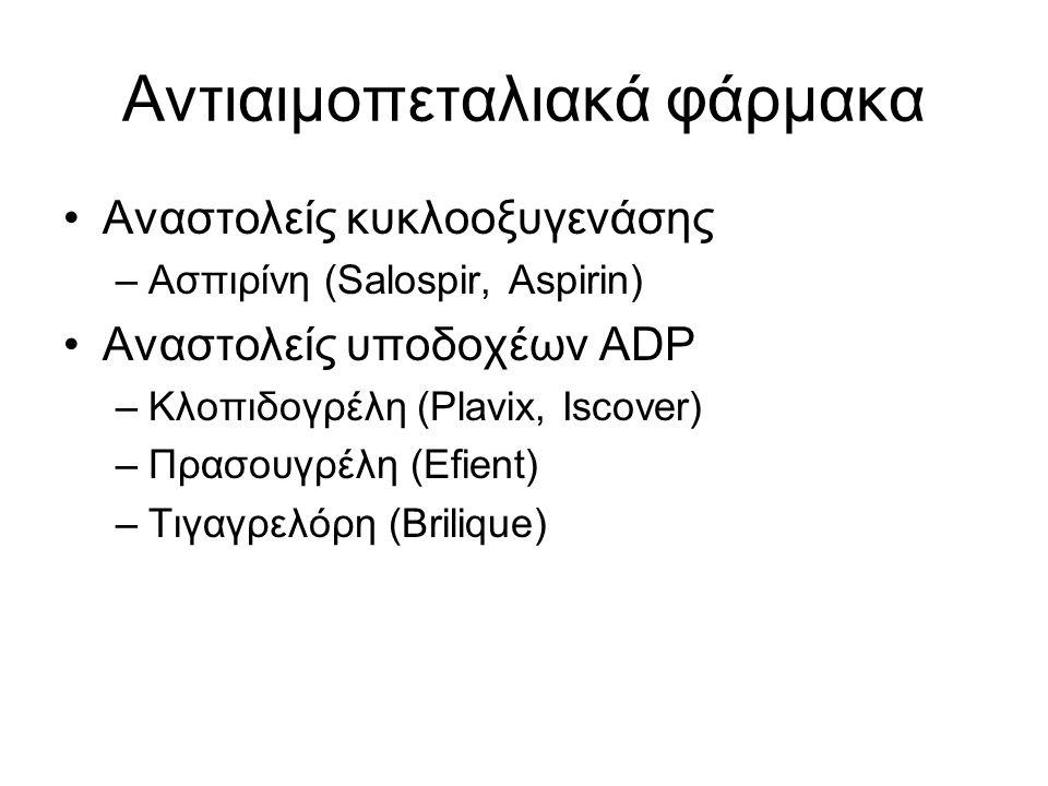 Αντιαιμοπεταλιακά φάρμακα