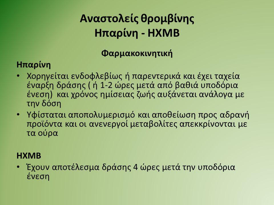 Αναστολείς θρομβίνης Ηπαρίνη - ΗΧΜΒ