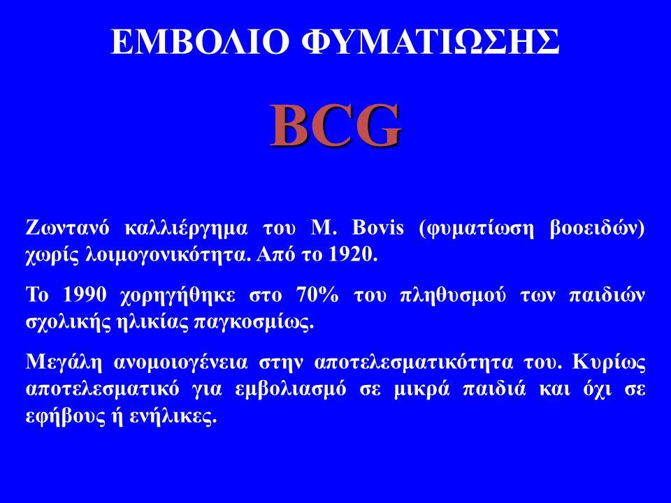 BCG ΕΜΒΟΛΙΟ ΦΥΜΑΤΙΩΣΗΣ