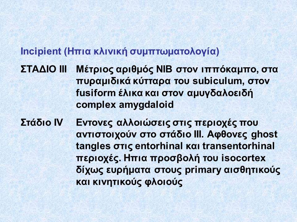 Incipient (Ηπια κλινική συμπτωματολογία)