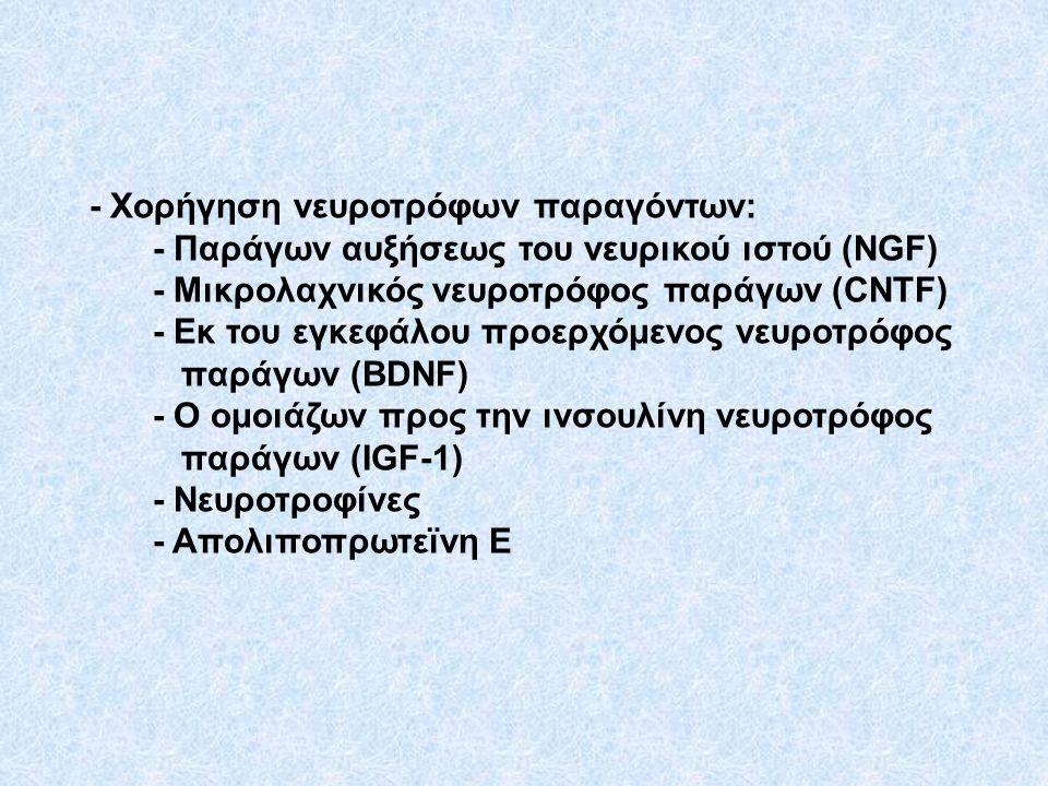 - Χορήγηση νευροτρόφων παραγόντων: