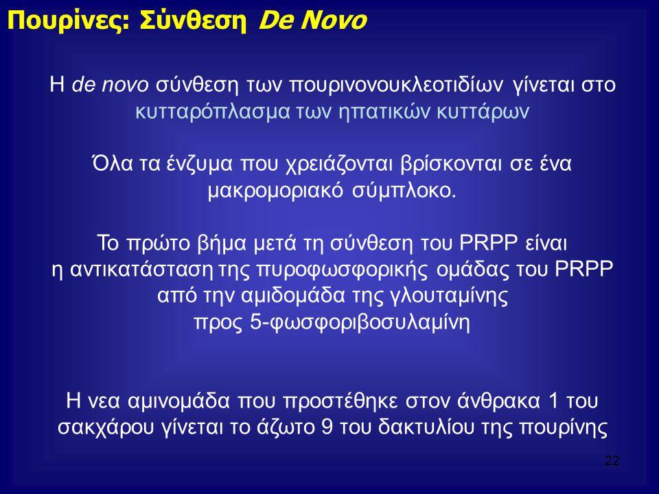 Πουρίνες: Σύνθεση De Novo