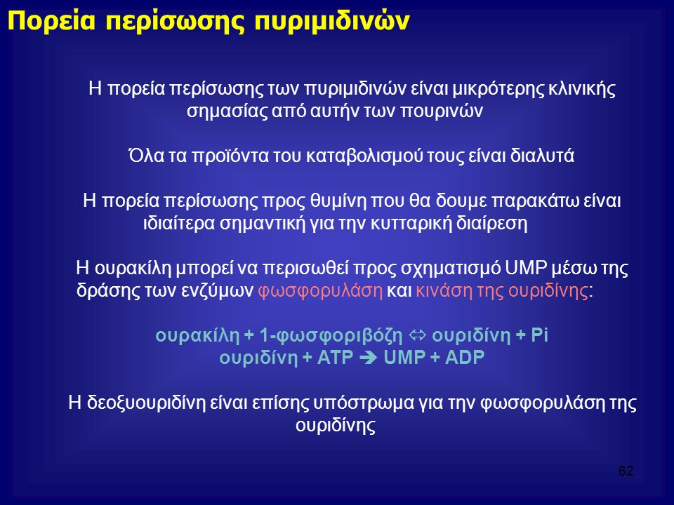 ουριδίνη + ATP  UMP + ADP