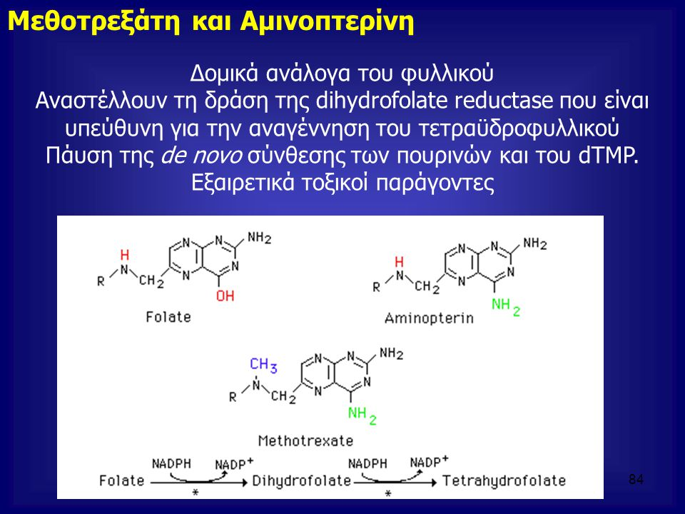 Μεθοτρεξάτη και Αμινοπτερίνη