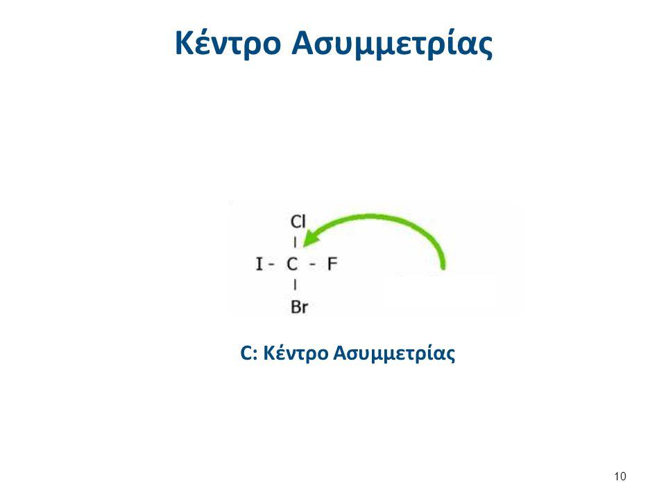 Ποιά άτομα C είναι κέντρα ασυμμετρίας