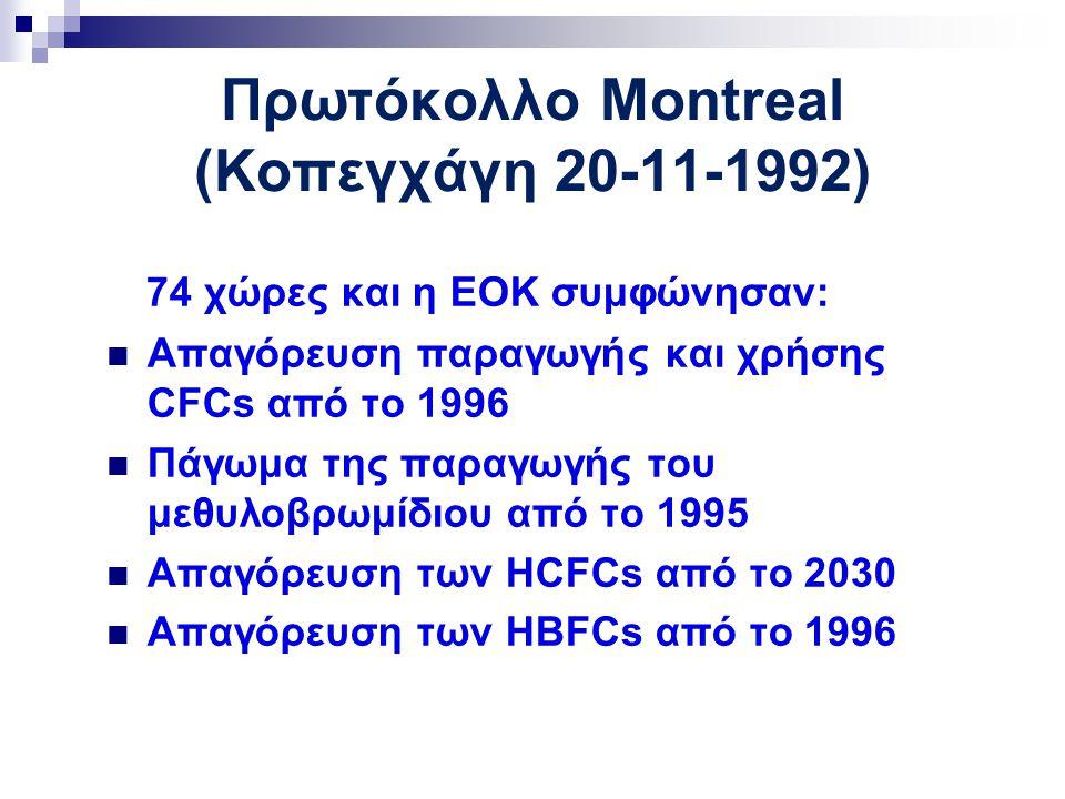 Πρωτόκολλο Montreal (Κοπεγχάγη 20-11-1992)
