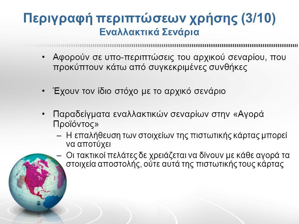 Περιγραφή περιπτώσεων χρήσης (3/10) Εναλλακτικά Σενάρια