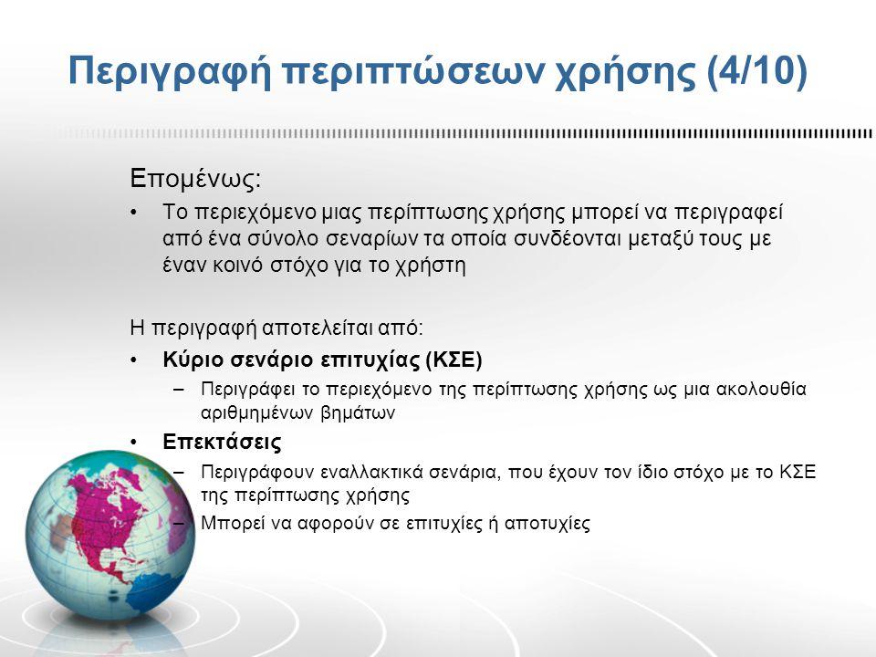 Περιγραφή περιπτώσεων χρήσης (4/10)
