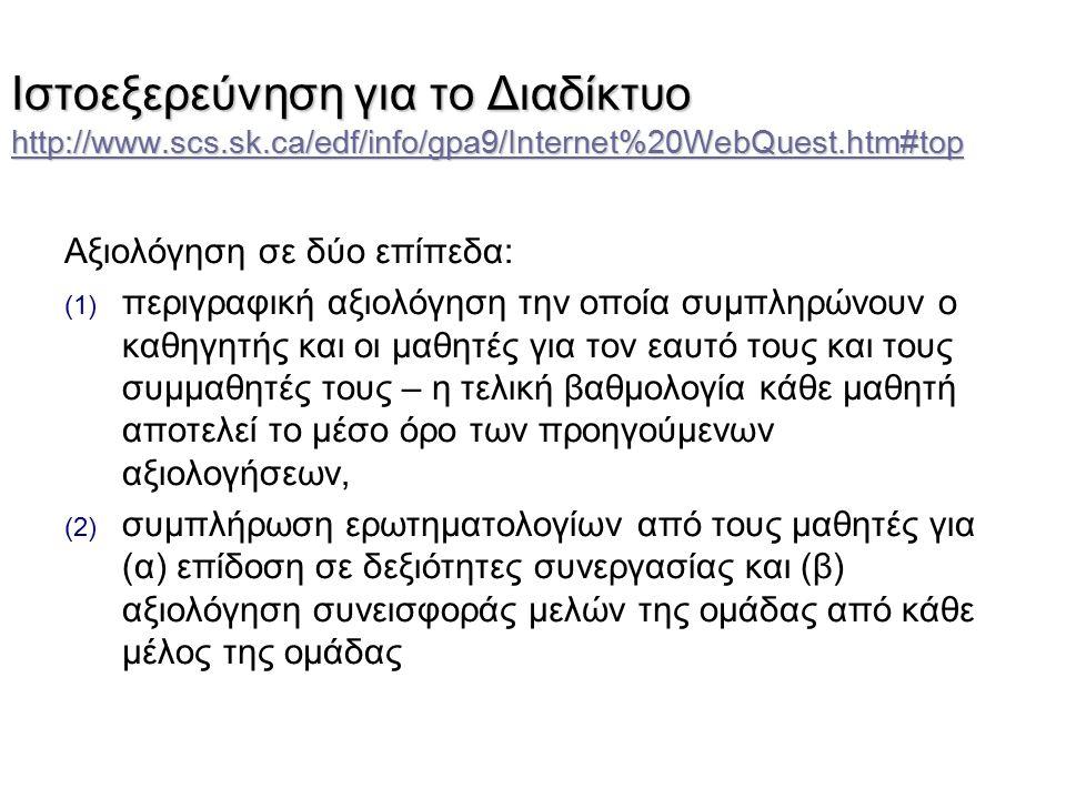 Ιστοεξερεύνηση για το Διαδίκτυο http://www. scs. sk