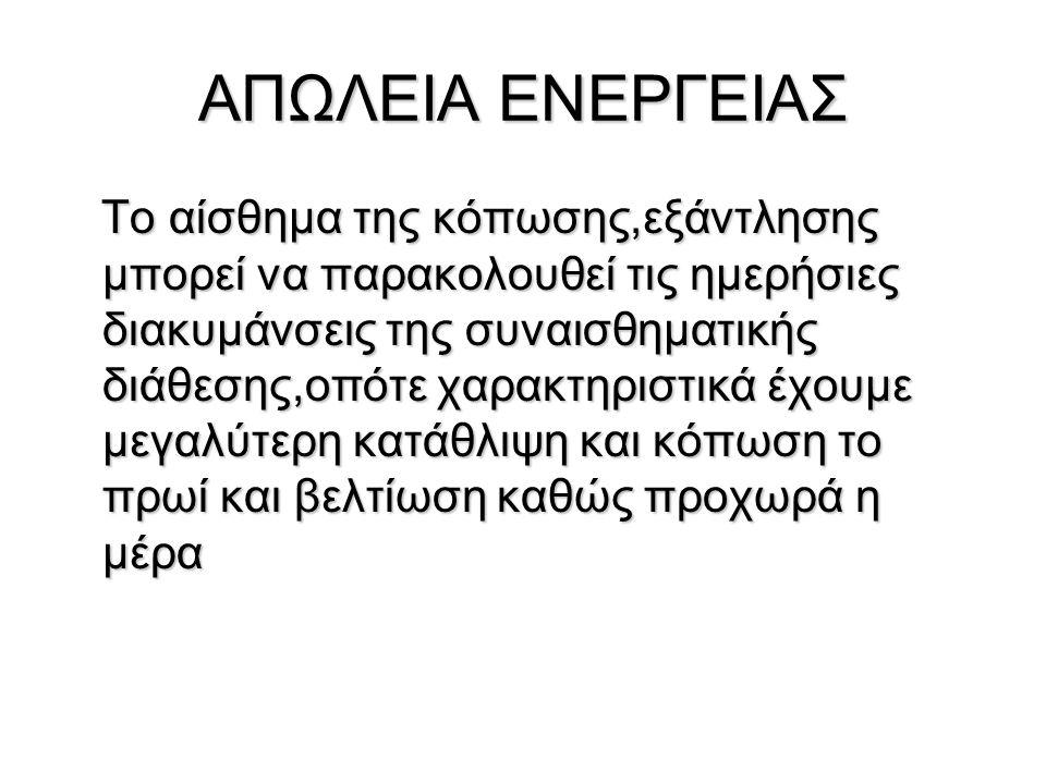 ΑΠΩΛΕΙΑ ΕΝΕΡΓΕΙΑΣ