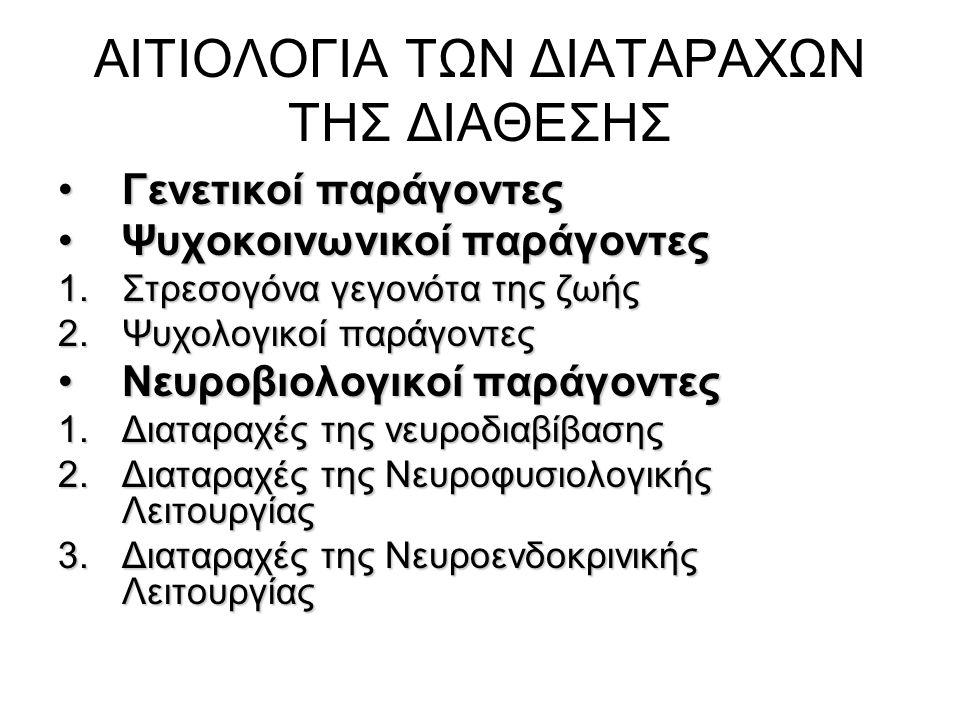 ΑΙΤΙΟΛΟΓΙΑ ΤΩΝ ΔΙΑΤΑΡΑΧΩΝ ΤΗΣ ΔΙΑΘΕΣΗΣ