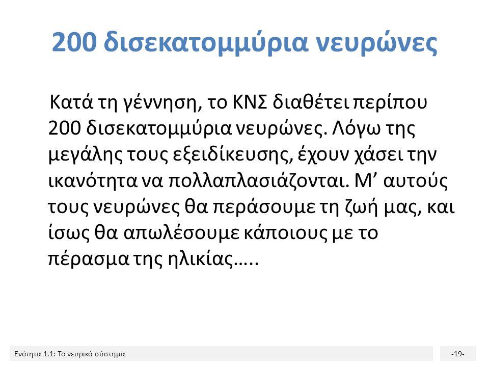 200 δισεκατομμύρια νευρώνες