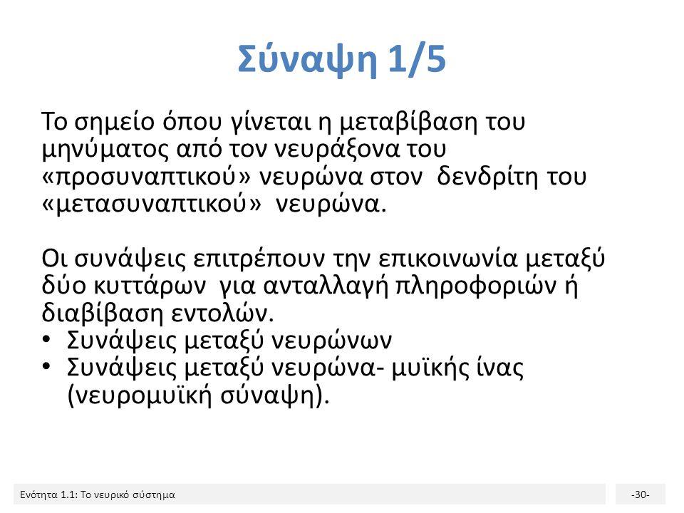 Σύναψη 1/5