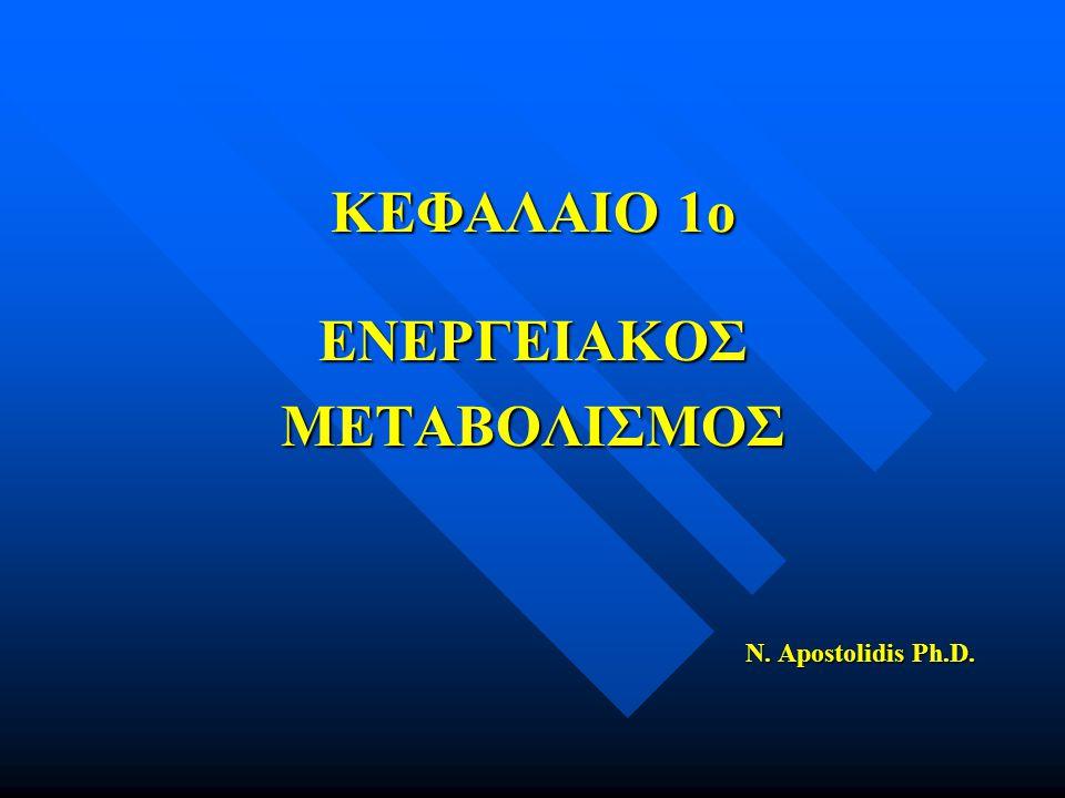 ΚΕΦΑΛΑΙΟ 1ο ΕΝΕΡΓΕΙΑΚΟΣ ΜΕΤΑΒΟΛΙΣΜΟΣ