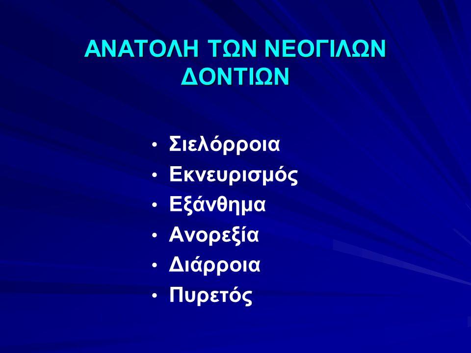 ΑΝΑΤΟΛΗ ΤΩΝ ΝΕΟΓΙΛΩΝ ΔΟΝΤΙΩΝ