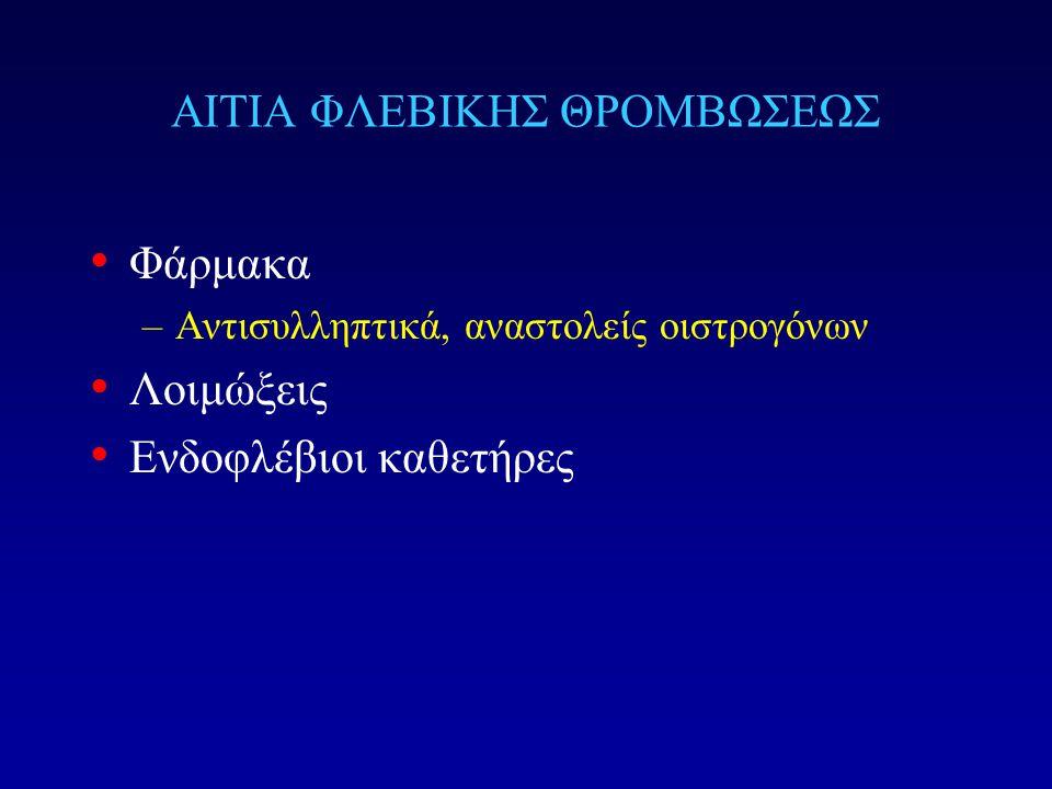 ΑΙΤΙΑ ΦΛΕΒΙΚΗΣ ΘΡΟΜΒΩΣΕΩΣ