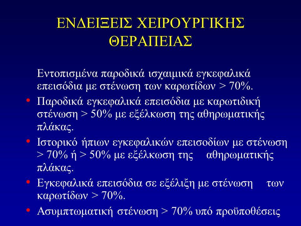ΕΝΔΕΙΞΕΙΣ ΧΕΙΡΟΥΡΓΙΚΗΣ ΘΕΡΑΠΕΙΑΣ
