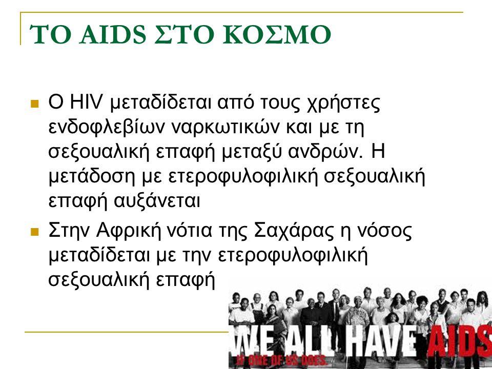 ΤΟ AIDS ΣΤΟ ΚΟΣΜΟ