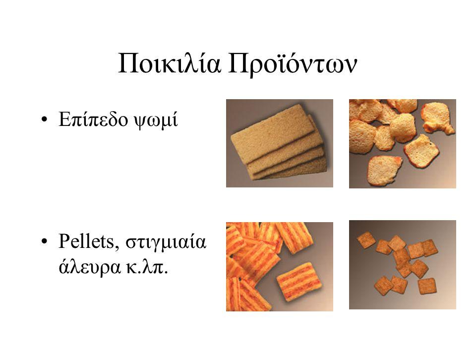 Ποικιλία Προϊόντων Επίπεδο ψωμί Pellets, στιγμιαία άλευρα κ.λπ.