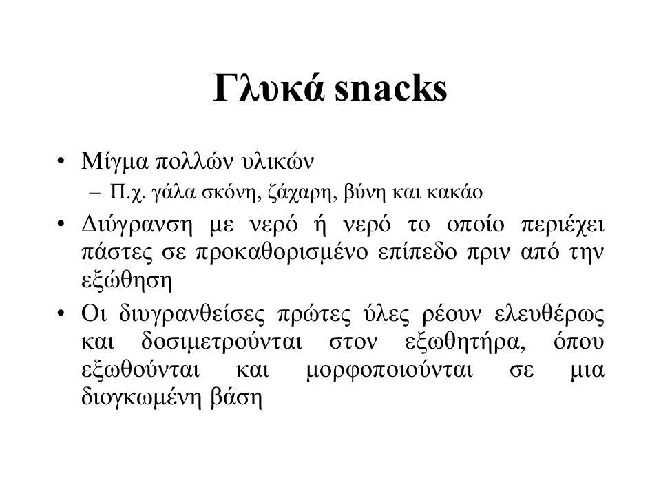Γλυκά snacks Μίγμα πολλών υλικών