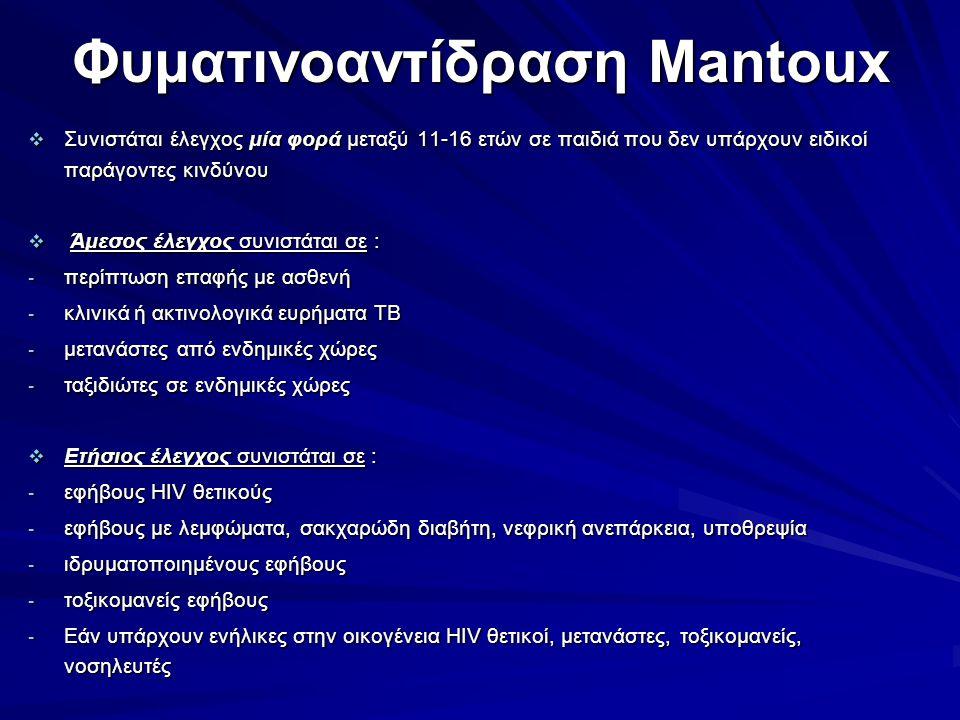 Φυματινοαντίδραση Mantoux
