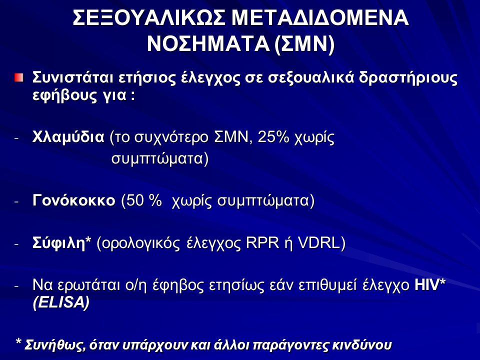 ΣΕΞΟΥΑΛΙΚΩΣ ΜΕΤΑΔΙΔΟΜΕΝΑ ΝΟΣΗΜΑΤΑ (ΣΜΝ)