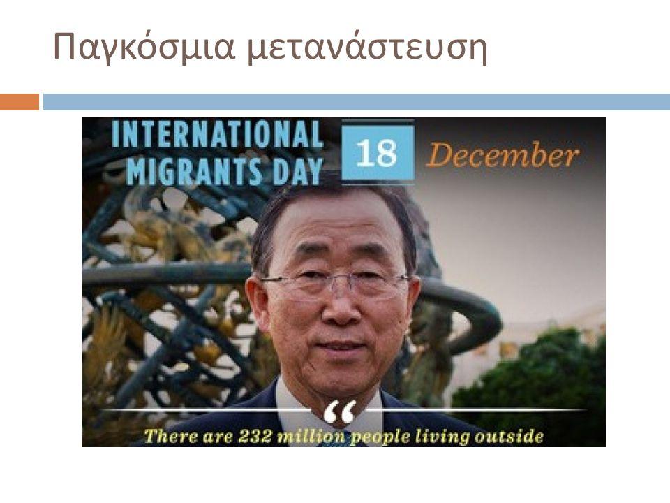 Παγκόσμια μετανάστευση