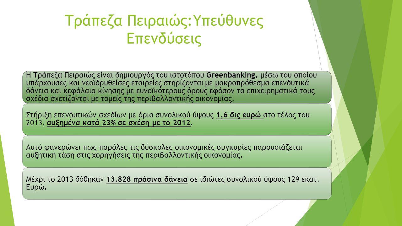 Τράπεζα Πειραιώς:Υπεύθυνες Επενδύσεις