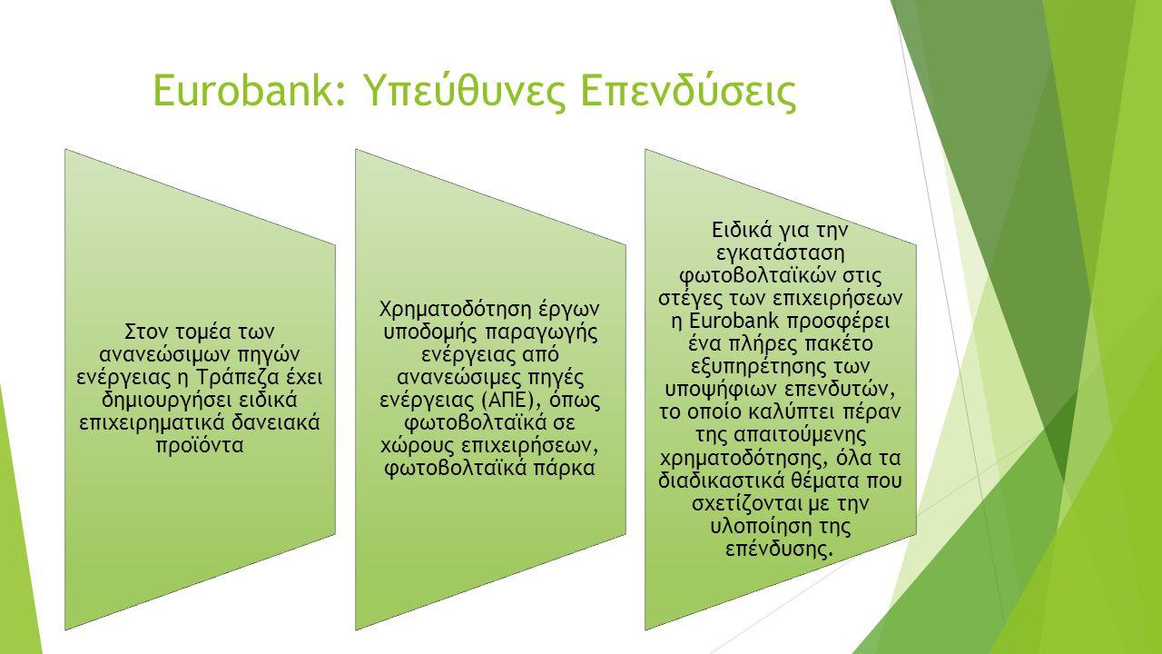 Eurobank: Υπεύθυνες Επενδύσεις