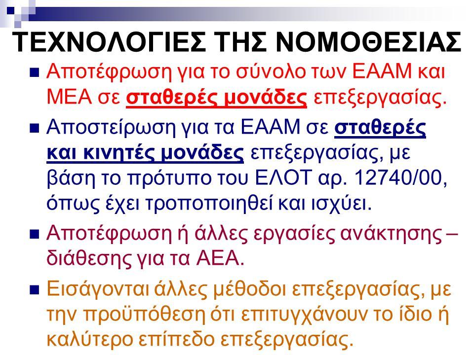 ΤΕΧΝΟΛΟΓΙΕΣ ΤΗΣ ΝΟΜΟΘΕΣΙΑΣ