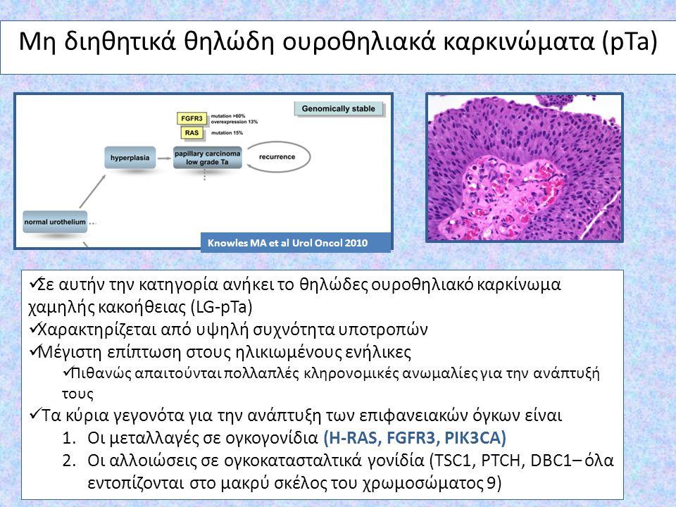 Μη διηθητικά θηλώδη ουροθηλιακά καρκινώματα (pTa)