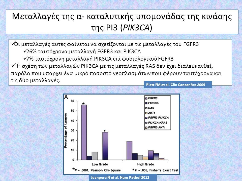 Μεταλλαγές της α- καταλυτικής υπομονάδας της κινάσης της PI3 (PIK3CA)