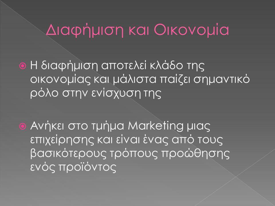 Διαφήμιση και Οικονομία