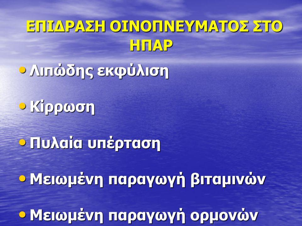 ΕΠΙΔΡΑΣΗ ΟΙΝΟΠΝΕΥΜΑΤΟΣ ΣΤΟ ΗΠΑΡ