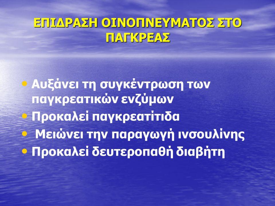 ΕΠΙΔΡΑΣΗ ΟΙΝΟΠΝΕΥΜΑΤΟΣ ΣΤΟ ΠΑΓΚΡΕΑΣ