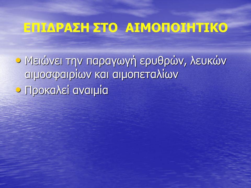 ΕΠΙΔΡΑΣΗ ΣΤΟ ΑΙΜΟΠΟΙΗΤΙΚΟ