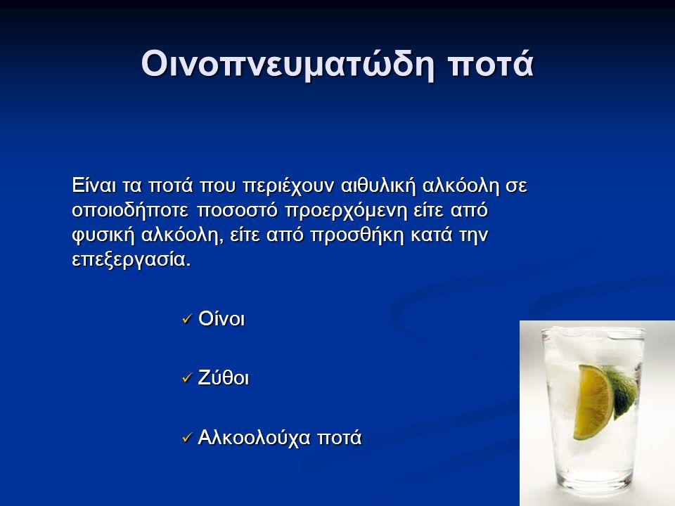 Οινοπνευματώδη ποτά