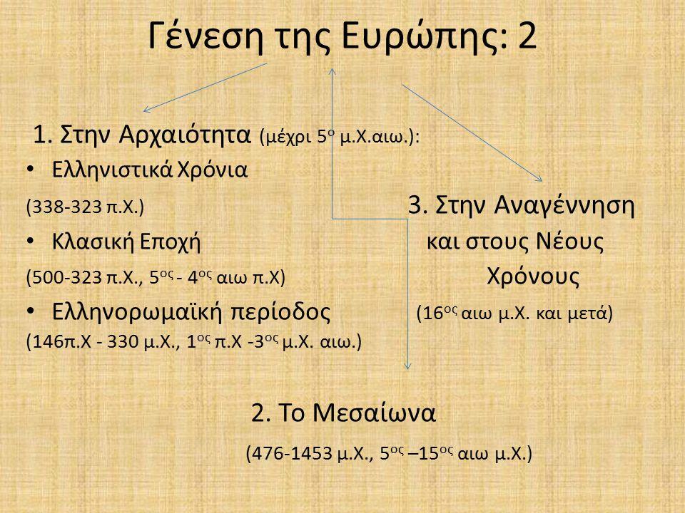 Γένεση της Ευρώπης: 2 (476-1453 μ.Χ., 5ος –15ος αιω μ.Χ.)